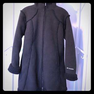 Columbia long fleece jacket
